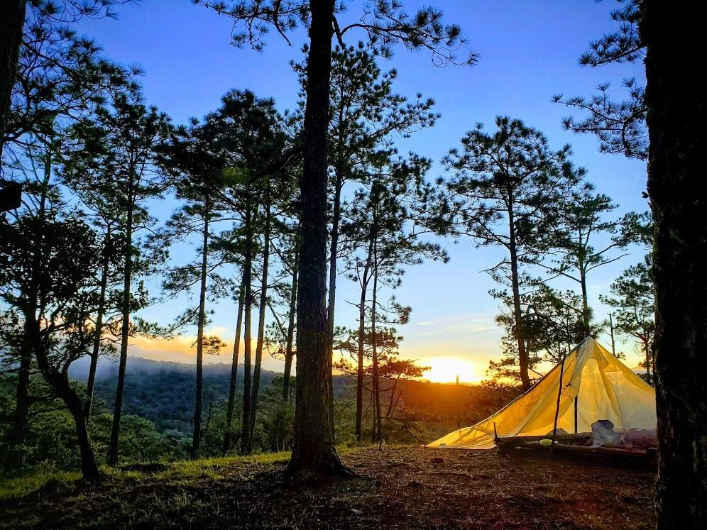 cắm trại ở vườn quốc gia Bidoup Núi Bà và ngắm mặt trời mọc