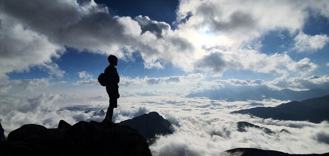 biển mây trên đỉnh Bạch Mộc Lương Tử