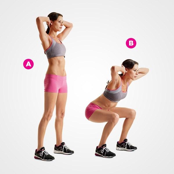 bài tập chuẩn bị thể lực leo núi 3: đứng lên ngồi xuống