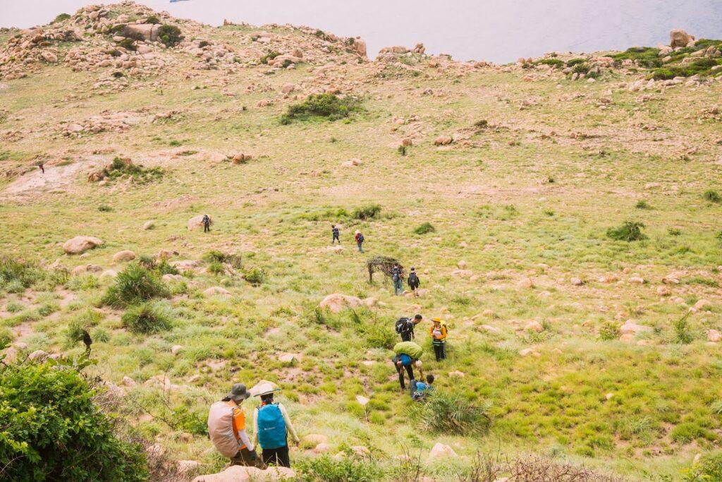 Đường đi của các hikers tương đối đơn giản hơn trekkers hikking