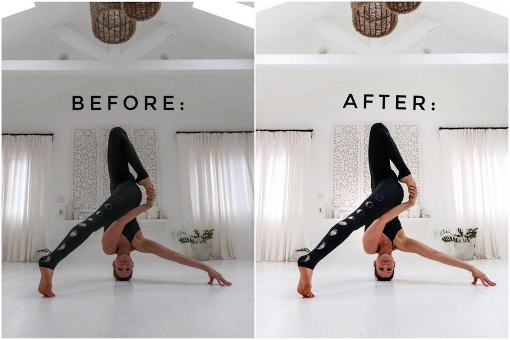 Trước và sau khi chỉnh sửa ảnh bằng VSCO